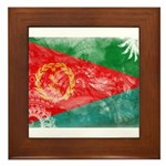 Eritrea Flag Framed Tile