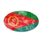 Eritrea Flag 38.5 x 24.5 Oval Wall Peel