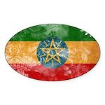 Ethiopia Flag Sticker (Oval)