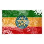 Ethiopia Flag Sticker (Rectangle)