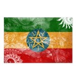 Ethiopia Flag Postcards (Package of 8)