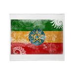 Ethiopia Flag Throw Blanket