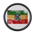 Ethiopia Flag Large Wall Clock