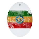 Ethiopia Flag Ornament (Oval)
