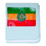 Ethiopia Flag baby blanket