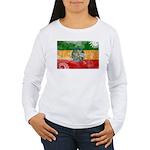 Ethiopia Flag Women's Long Sleeve T-Shirt