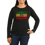 Ethiopia Flag Women's Long Sleeve Dark T-Shirt