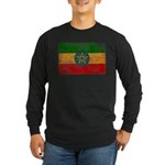 Ethiopia Flag Long Sleeve Dark T-Shirt