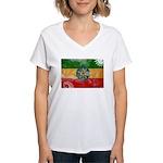 Ethiopia Flag Women's V-Neck T-Shirt
