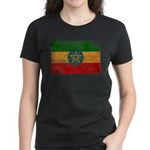 Ethiopia Flag Women's Dark T-Shirt