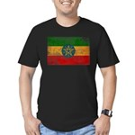 Ethiopia Flag Men's Fitted T-Shirt (dark)
