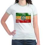 Ethiopia Flag Jr. Ringer T-Shirt