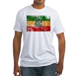 Ethiopia Flag Fitted T-Shirt