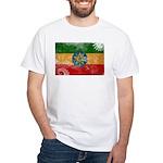 Ethiopia Flag White T-Shirt
