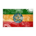 Ethiopia Flag 38.5 x 24.5 Wall Peel