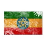 Ethiopia Flag 22x14 Wall Peel