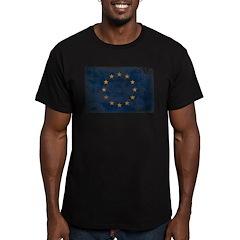European Union Flag Men's Fitted T-Shirt (dark)