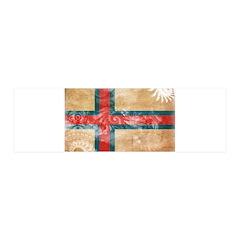 Faroe Islands Flag 21x7 Wall Peel