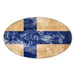 Finland Flag Sticker (Oval)