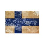 Finland Flag Rectangle Magnet (100 pack)