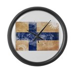 Finland Flag Large Wall Clock