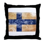 Finland Flag Throw Pillow