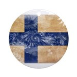 Finland Flag Ornament (Round)