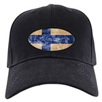 Finland Flag Black Cap