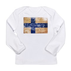 Finland Flag Long Sleeve Infant T-Shirt