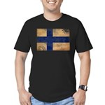 Finland Flag Men's Fitted T-Shirt (dark)