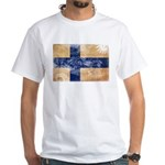 Finland Flag White T-Shirt