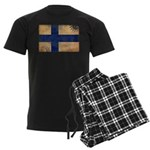 Finland Flag Men's Dark Pajamas