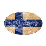Finland Flag 38.5 x 24.5 Oval Wall Peel