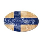 Finland Flag 22x14 Oval Wall Peel