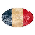 France Flag Sticker (Oval 10 pk)