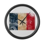 France Flag Large Wall Clock