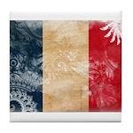 France Flag Tile Coaster