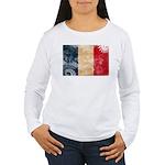 France Flag Women's Long Sleeve T-Shirt