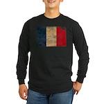 France Flag Long Sleeve Dark T-Shirt