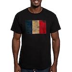 France Flag Men's Fitted T-Shirt (dark)