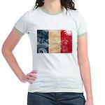 France Flag Jr. Ringer T-Shirt