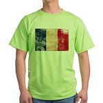 France Flag Green T-Shirt