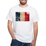 France Flag White T-Shirt