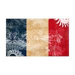 France Flag 38.5 x 24.5 Wall Peel
