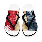 France Flag Flip Flops