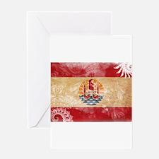 French Polynesia Flag Greeting Card
