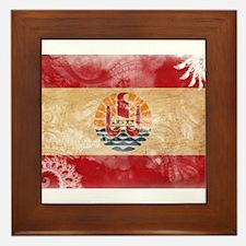 French Polynesia Flag Framed Tile