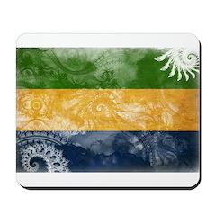 Gabon Flag Mousepad
