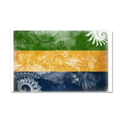 Gabon Flag Car Magnet 20 x 12