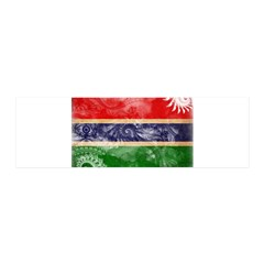 Gambia Flag 21x7 Wall Peel